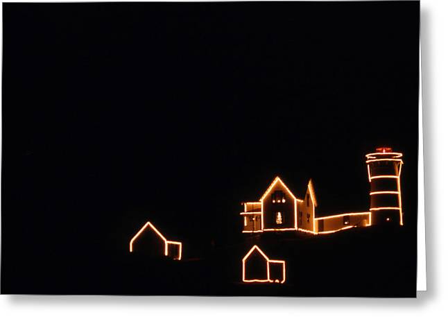 Christmas At The Nubble Greeting Card