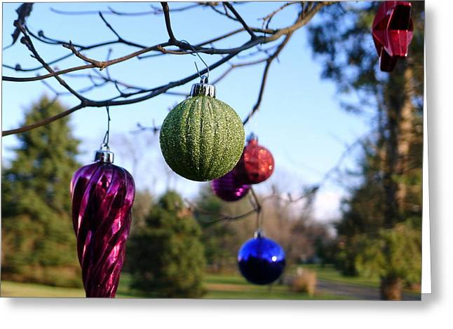 Christmas Baubles Greeting Card by Richard Reeve