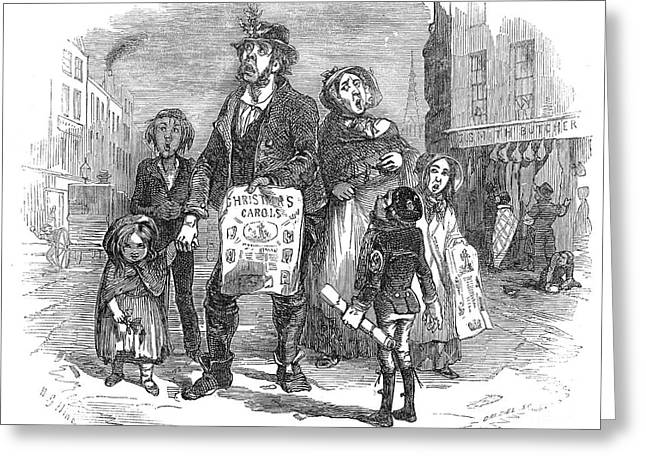 Christmas Carolers, 1874 Greeting Card