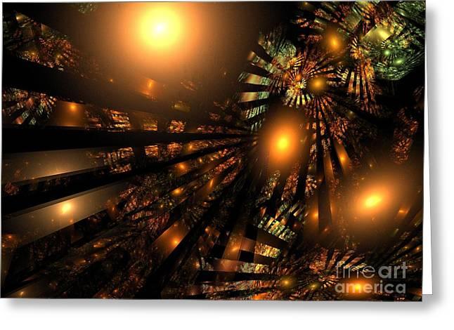 Christmas Cheers Greeting Card by Klara Acel