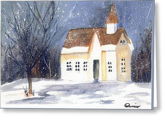 Christmas Eve Greeting Card by Wendy Cunico