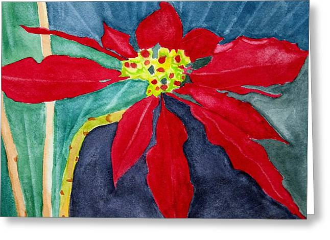 Christmas Flower Greeting Card by Charlotte Hickcox