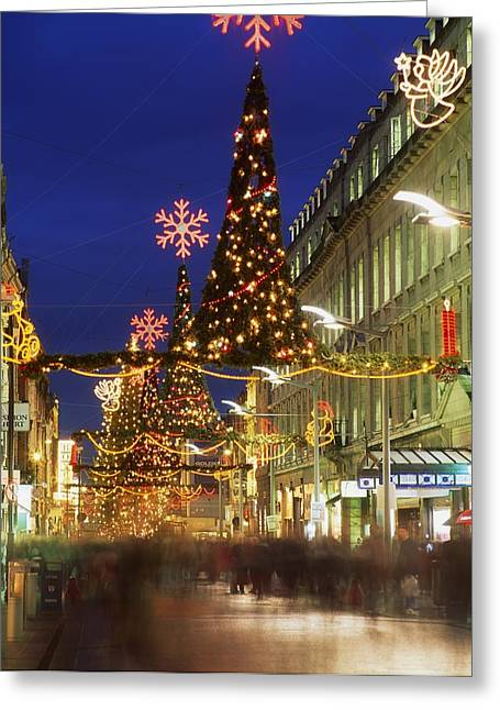 Christmas In Dublin, Henry Street At Greeting Card