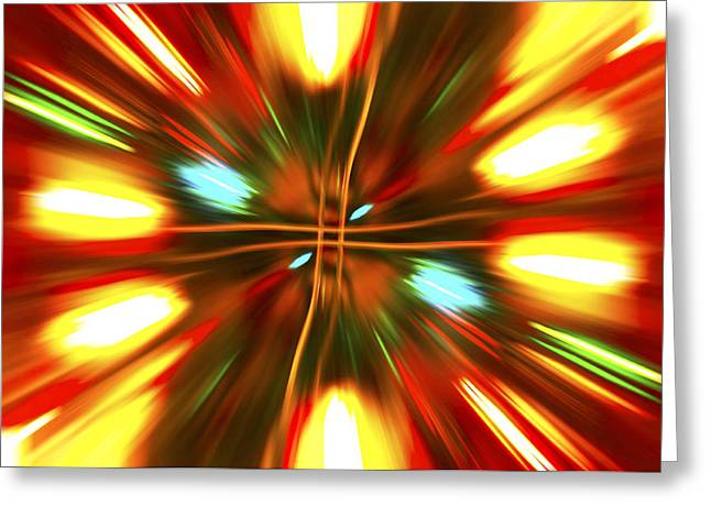 Greeting Card featuring the photograph Christmas Light Abstract by Steve Purnell