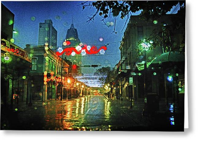 Lights At 3 Georges In Mobile Al Greeting Card