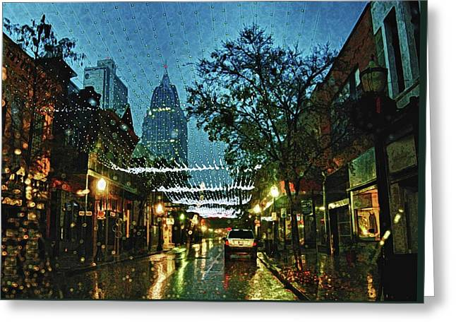 Christmas Lights Down Dauphin Street Greeting Card by Michael Thomas