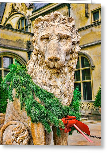 Christmas Lion At Biltmore Greeting Card