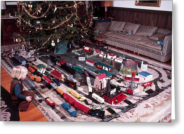 Christmas Morning, 1957 Greeting Card by Photo Researchers