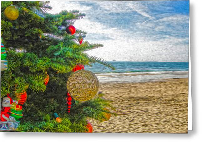 Christmas On The Beach Greeting Card by Gregory Dyer