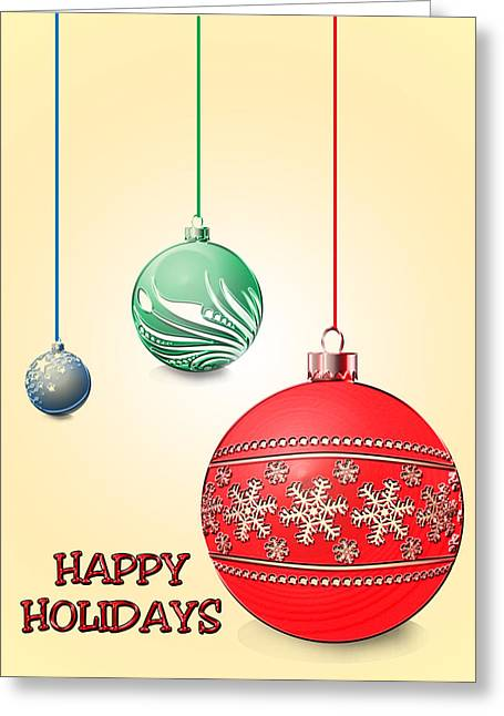 Christmas Ornaments Greeting Card by Anthony Caruso
