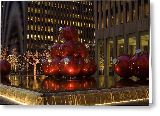 Christmas Ornaments Nyc Greeting Card by Diane Lent