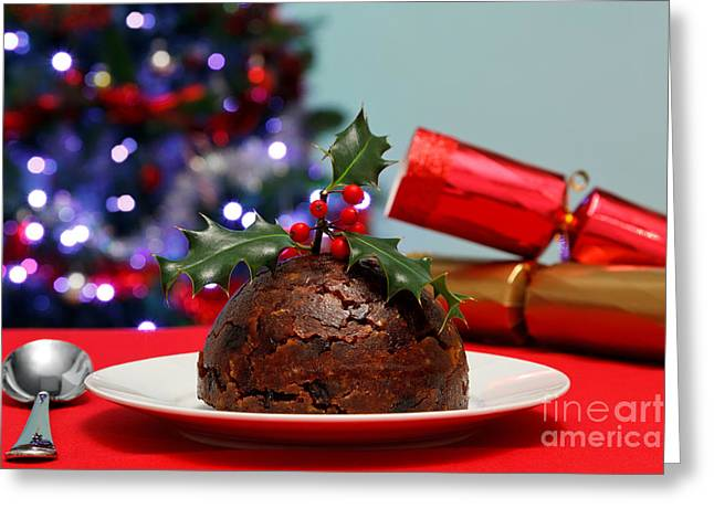 Christmas Pudding  Greeting Card by Richard Thomas