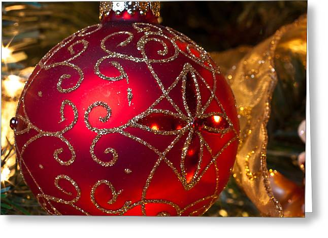 Greeting Card featuring the photograph Christmas Red by Lawrence Burry
