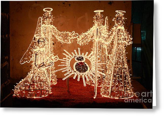 Christmas Scene Greeting Card by Gaspar Avila