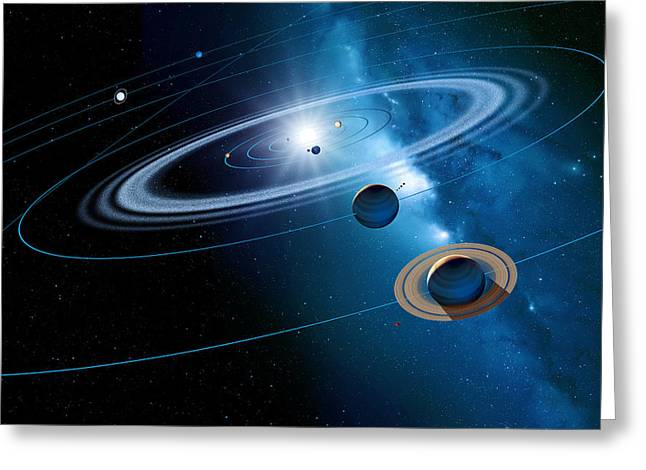 Christmas Star As Planetary Conjunction Greeting Card