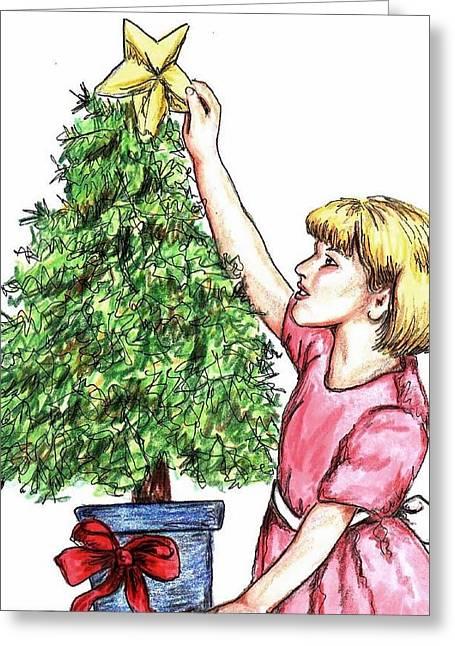 Christmas Star Greeting Card