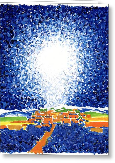 Christmas Star Greeting Card by Rodger Ellingson