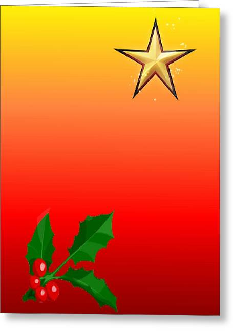 Christmas Star Greeting Card by Ronel Broderick