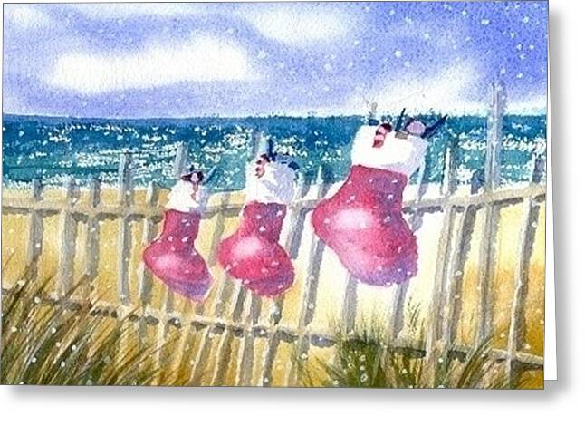 Christmas Stockings Greeting Card by Joseph Gallant