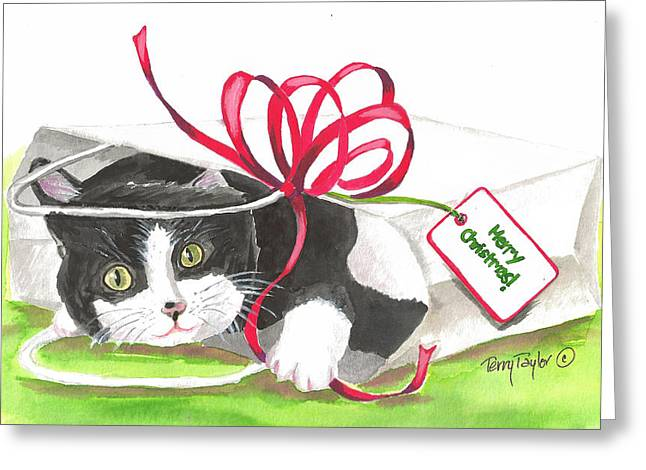Christmas Surprise Greeting Card by Terry Taylor