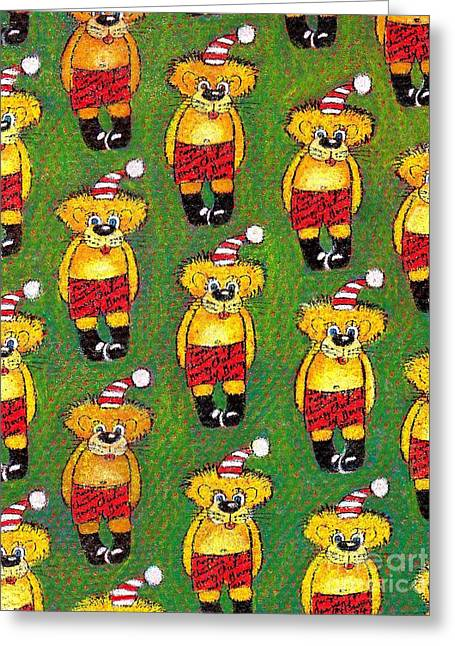 Christmas Teddy Bears Greeting Card by Genevieve Esson