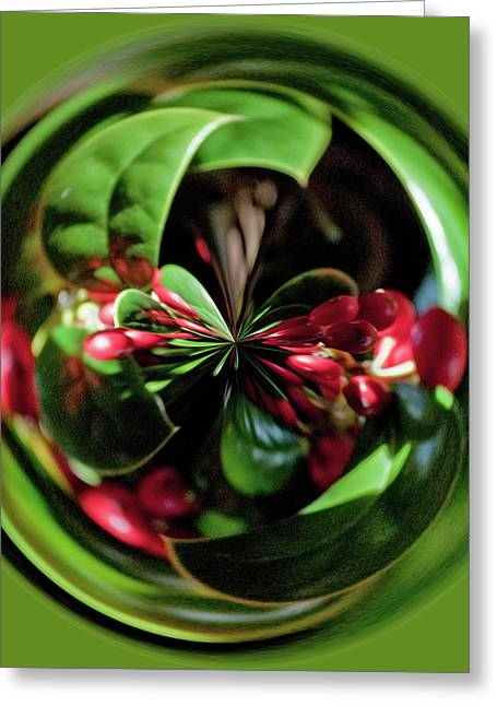 Christmas Time Orb Greeting Card