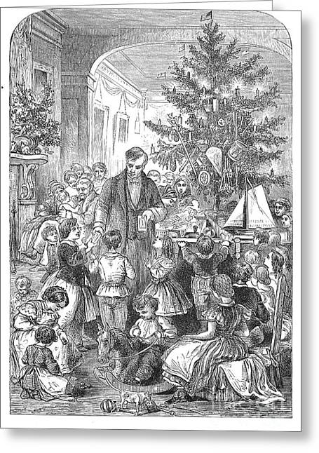 Christmas Tree, 1870 Greeting Card by Granger