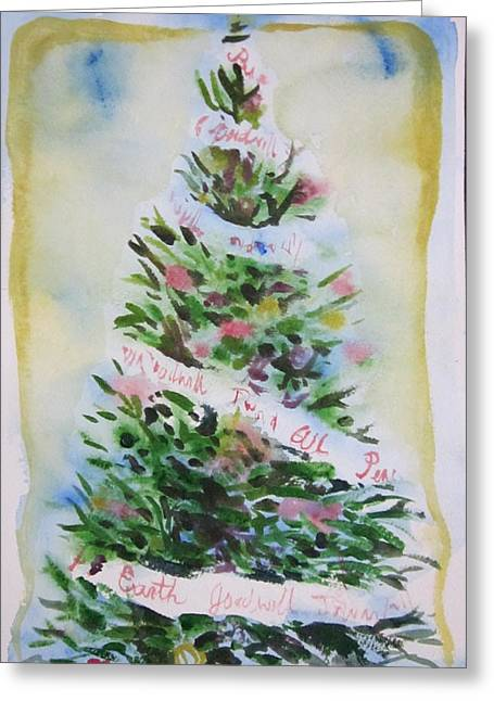 Christmas Tree Greeting Card by Tilly Strauss