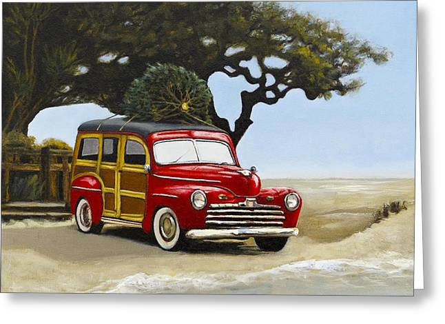 Christmas Woody Greeting Card