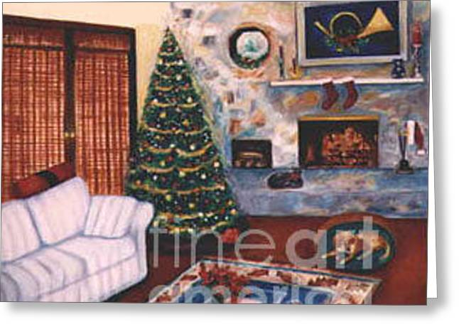 Christmastime Greeting Card by Karen Francis