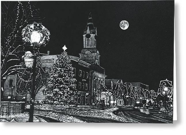 Christmastime Greeting Card by Robert Goudreau