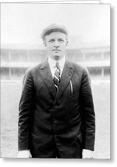 Greeting Card featuring the photograph Christy Mathewson - Major League Baseball Player by International  Images