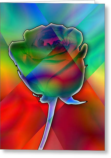 Chromatic Rose Greeting Card by Anthony Caruso
