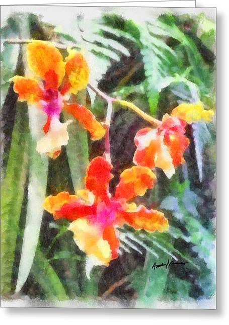 Chromaticorchids Greeting Card by Anthony Caruso