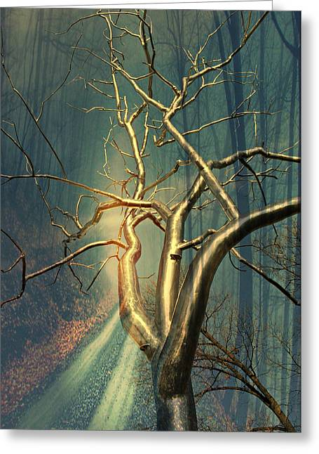 Chrome Forest Greeting Card by Marty Koch