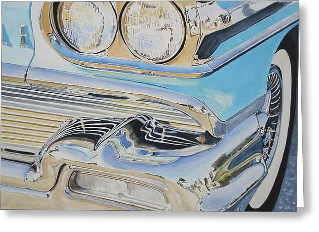 Chrome  Ode To An Olds Greeting Card by Patrick DuMouchel