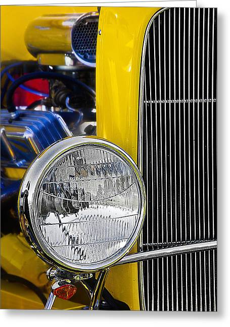Greeting Card featuring the photograph Chrome Yellow 01 by Kevin Chippindall