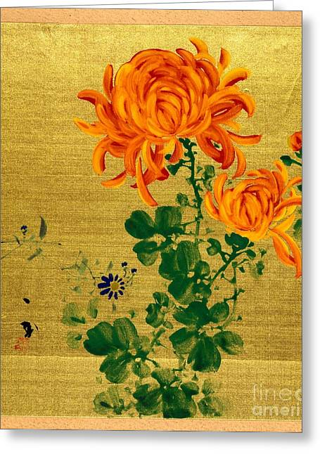 Chrysanthemums 1915 Greeting Card by Padre Art