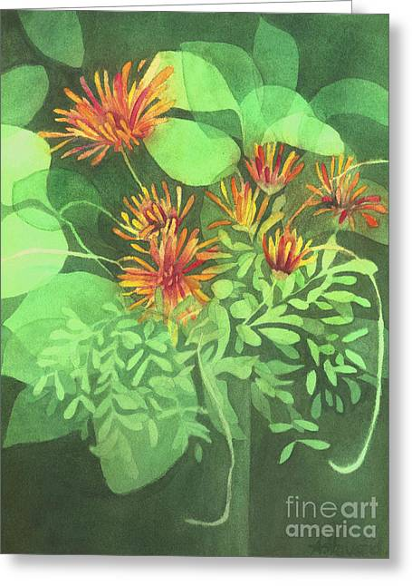Chrysanthemums Greeting Card by Anne Havard
