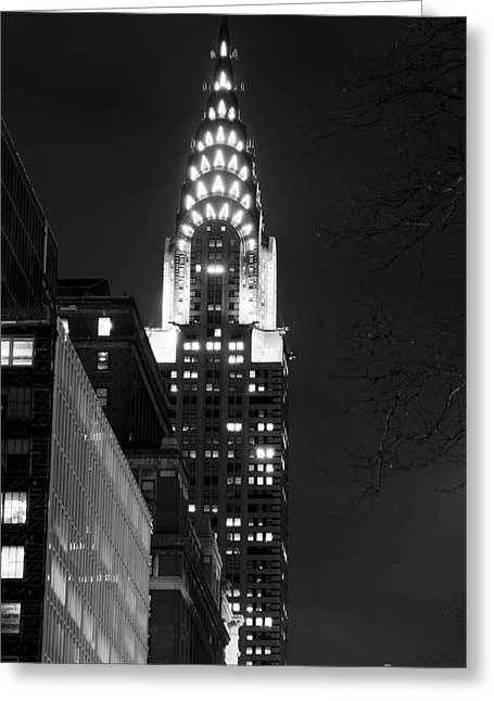 Greeting Card featuring the photograph Chrysler Building by Michael Dorn