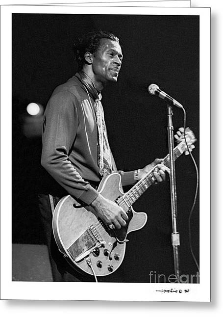Chuck Berry 3 Greeting Card