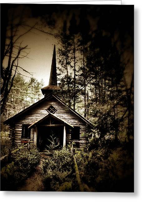 Church Abandon Greeting Card