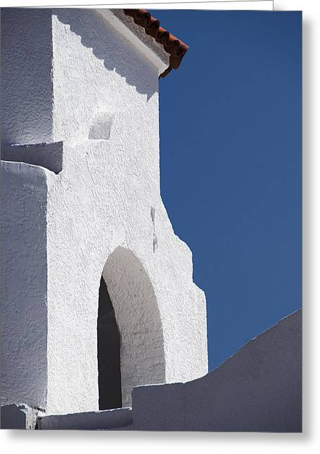 Church Bell Tower Chacras De Coria Greeting Card by Philippe Widling