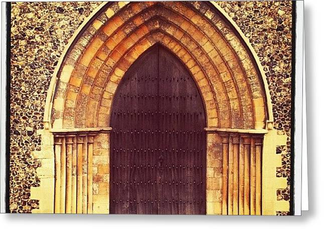 Church Door #church #door #yarmouth Greeting Card