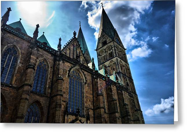 Greeting Card featuring the photograph Church In Bremen by Edward Myers
