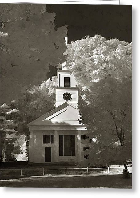 Church In Infrared Greeting Card by Joann Vitali
