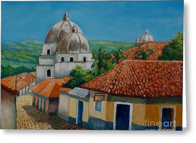 Church Of Pespire In Honduras Greeting Card