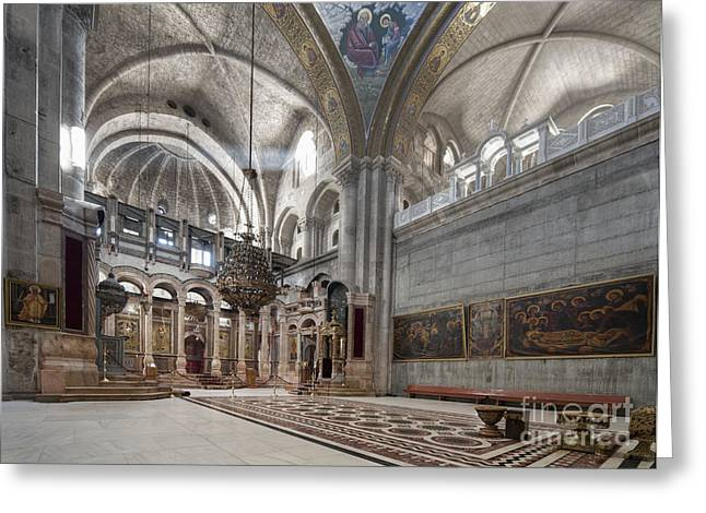Church Of The Holy Sepulchre Greeting Card by Noam Armonn