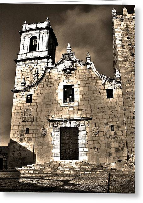 Church Of The Virgen De La Ermitana - Peniscola  Greeting Card by Juergen Weiss