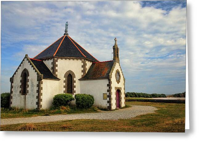 Greeting Card featuring the photograph Church Off The Brittany Coast by Dave Mills